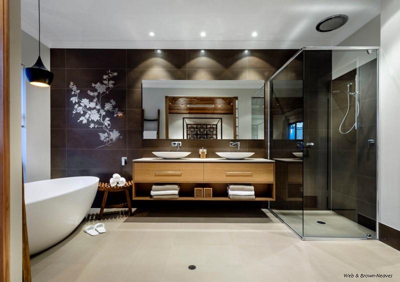 Modern serenity of a Zen influenced bathroom