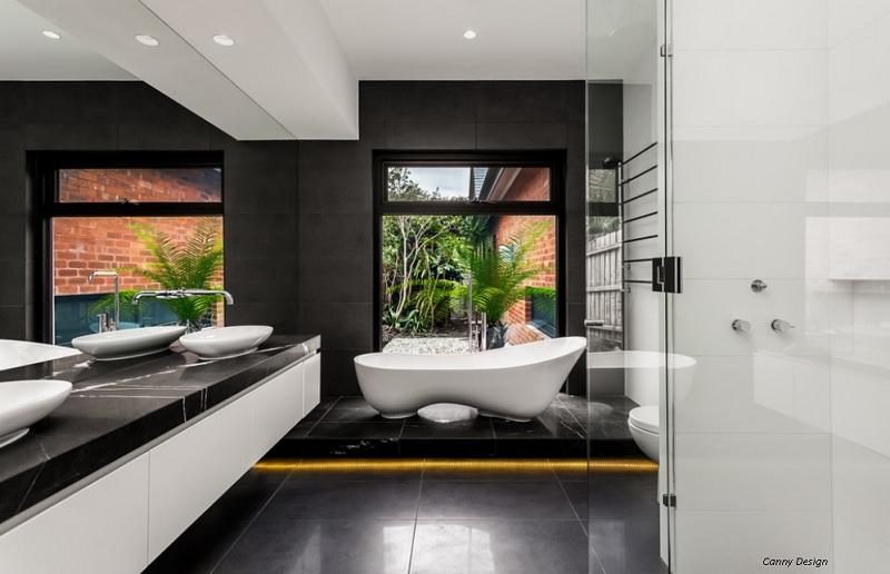 Highlighting a signature piece in modern bathroom design