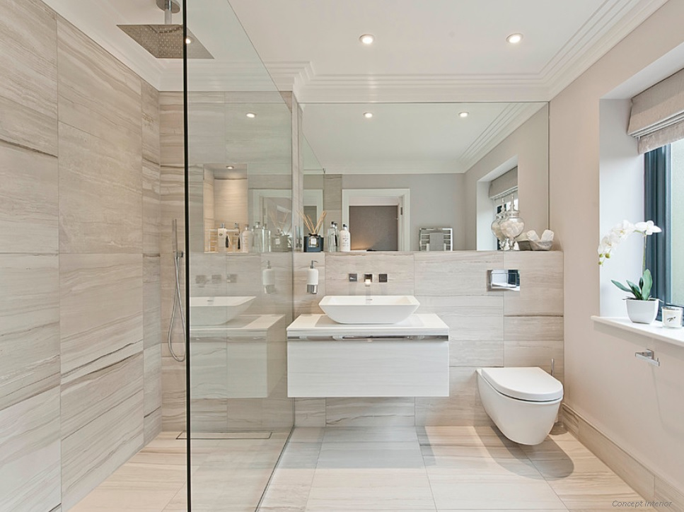 Compact simplicity of a small bathroom