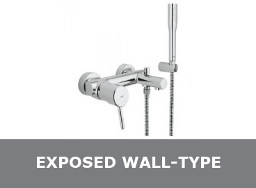 Exposed Wall Type Bath Taps