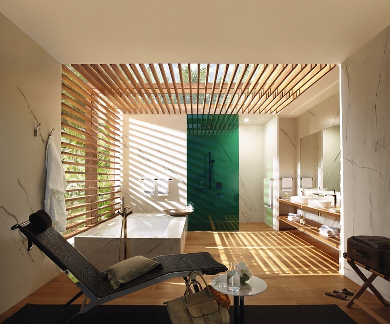 Unwind with the spa effect of modern minimalism